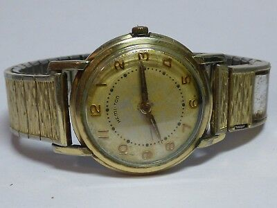 Men's Vintage Hamilton Manual Wind Goldtone Watch 10K GF Bezel
