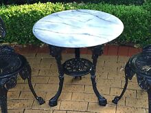 White Marble Top Cast Iron Table(LAST DAY) Hawthorn Mitcham Area Preview