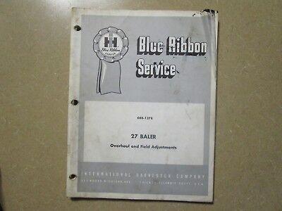 International Harvester 27 Baler Service Repair Manual
