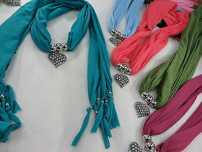 *US Seller*lot of 5 wholesale pendant necklace scarf charm jewelry necklace