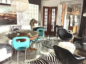 2 turquoise aqua accent chairs