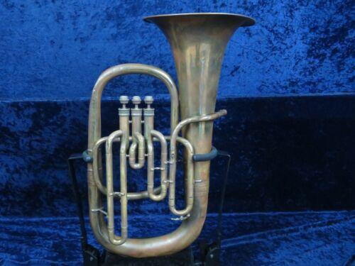 Vintage Antique No Name 3 Valve Euphonium Ser#26 Cool Playing Vintage Horn!