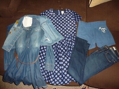 LOT OF 5 GIRLS CLOTHES JUSTICE ABERCROMBIE  CREW CUTS SIZE 12-14