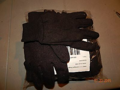 12 Pair Brown Jersey Work Gloves - Large For Mens Sizeclearance