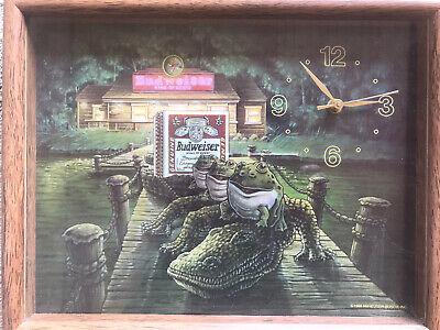 World Clock Quartz Famous Budweiser Beer Clock Anheuser w The Bud Wei Ser Frogs