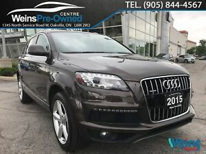 2015 Audi Q7 3.0T| MOONROOF|BLUETOOTH| 3RD ROW|NAVI|