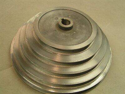 Aluminum 5 Step Pulley V-belt 58 Bore 4-l Belt Drive Press Machine Motor