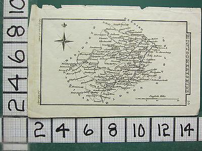 c1833 GEORGIAN MAP ~ MONTGOMERYSHIRE ~ MONTGOMERY NEWTOWN MACHYNLETH