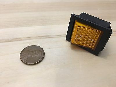 1 Piece Yellow 4 Pin Kcd4 20a Rocker Switch On Off 12v 125v 250v B5
