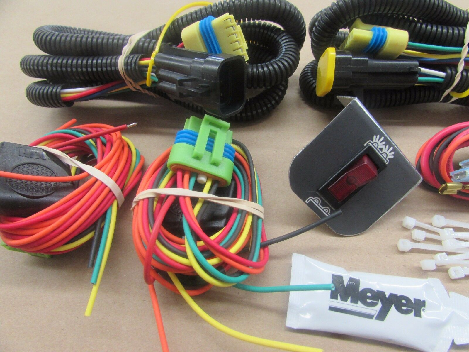 1 of 3FREE Shipping New Genuine Meyer Snow Plow Head Light Wiring Kit For  The Change Over Modules 2 of 3 New Genuine Meyer Snow Plow Head Light Wiring  Kit ...