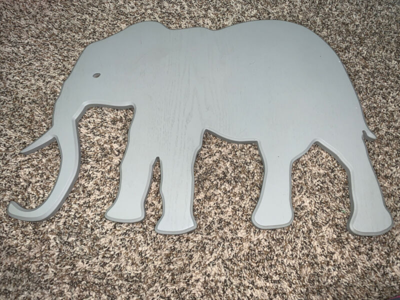 Wooden Wall Decor Animals Wooden Nursery Elephant