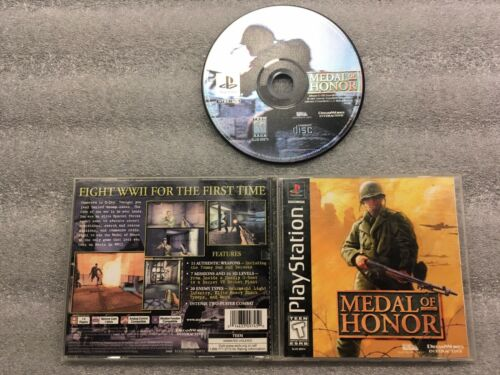 Medal Of Honor Sony PlayStation 1, 1999 PS1 Complete Black Label Tested - $12.99