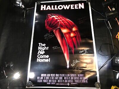 Halloween 6 Movie Poster (A-102 HALLOWEEN MOVIE POSTER SIGNED BY 6 CAST MEMBERS INCLUDING JOHN)
