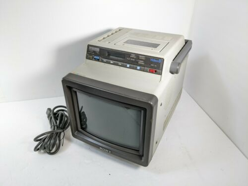 Sony EVM-8010 8mm VCR Video8 Tape Player Trinitron CRT TV, Tested working