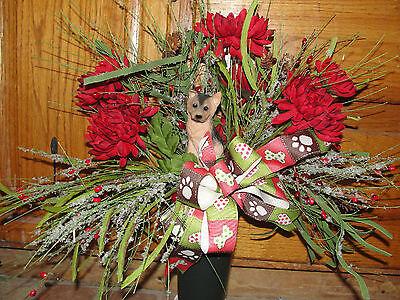 Any Season Pet Dog (Dogs Vary) Grave Flowers Cemetery Cone Urn Vase K-9 Memorial