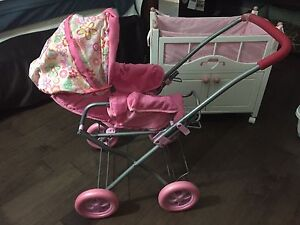 Doll crib and stroller
