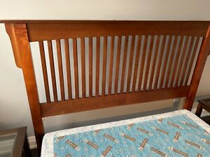 Queen bed frame and two side tables