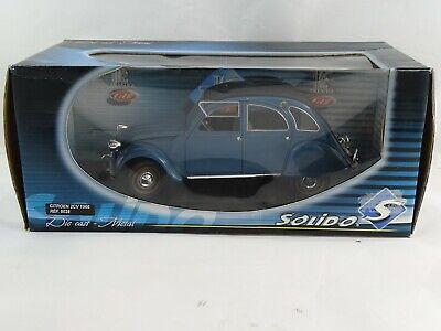 1:18 Solido 8028 1966 Citroen 2CV Blue Mint