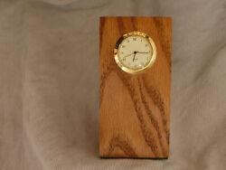 Wood block clock