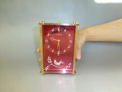 VINTAGE JAEGER LECOULTRE ALARM MUSIC CLOCK REUGE MUSIC BOX 3D SINGING BIRD FRONT