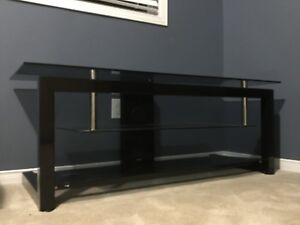 Glass TV Stand Entertainment Unit