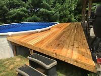 Carpentry, fences, decks, porches and custom Woodworking