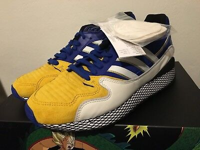 Adidas Dragon Ball Z 10.5 ULTRA TECH VEGETA BLUE DBZ D97054 SON GOHAN GOKU GOLD - Goku Shoes