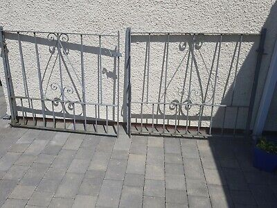 Galvanised steel driveway gates 2m 10cm width. No painting required
