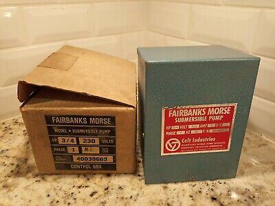 34 Hp 230v Fairbanks Morse Control Box Submersible Water Pump 40039665 A2