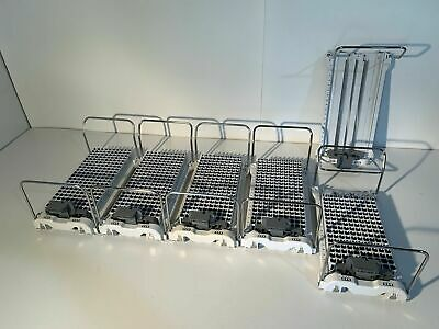 6x Beckman Coulter Automate 2550 Input Sample Aero Tray 200-position Racks