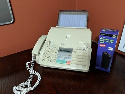 Sharp Fo-1470 Homeoffice Plain Paper Facsimile Fax Machine With Spare Ribbon