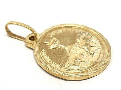 14k Yellow Gold Primera Communion First Communion Medal Round Charm Pendant ()