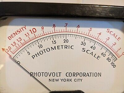 Photovolt Photometric Scale Density Scale New York City Vintage 1963