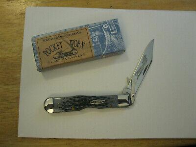 2002 Case XX CHEETAH Knife 6111 1/2L SS POCKET WORN OLD BLACK Jig Bone Made/ USA
