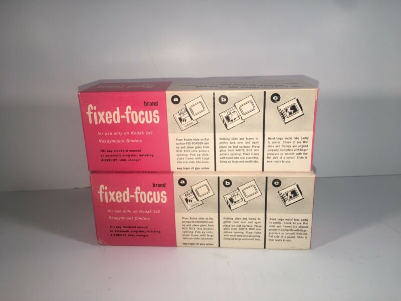 Fixed Focus Aluminum Readymount Binders Kodak 2x2 Slides Over 36 binders