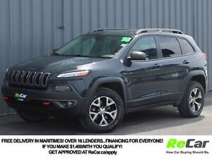 2016 Jeep Cherokee Trailhawk V6 | 4X4 | LEATHER LEATHER | SUN...