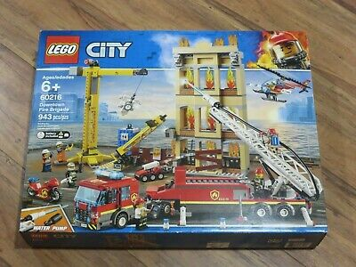Lego City 60216 Downtown Fire Brigade Set NEW Sealed 943 pieces Firefighters ++