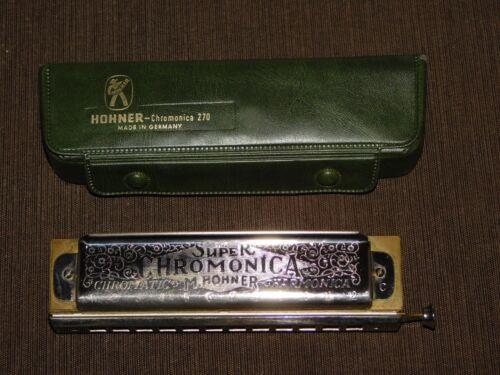 VINTAGE HOHNER HARMONICA SUPER CHROMONICA 270 C  IN BOX