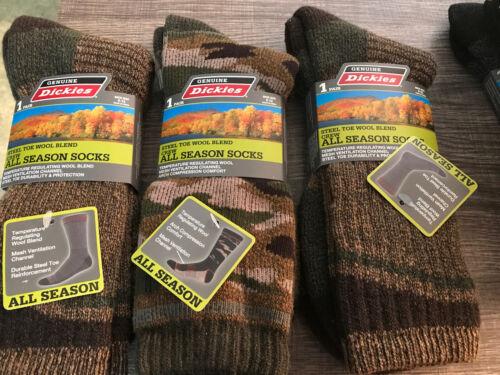 Brand New Three Pairs Dickies Steel Toe Wool Blend Mens Crew