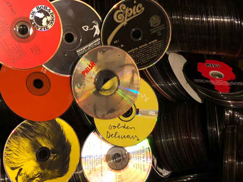 Huge Bulk Lot of 100 Mixed CD DVD Media Disc Only Various Artist Genre Condition