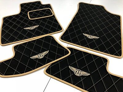 Bentley Continental Flying Spur, GT, GTC 2006-2018 Black/Saffron Floor Mats