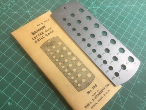 Starrett 198 - NOS - Letter Size Drill Gage