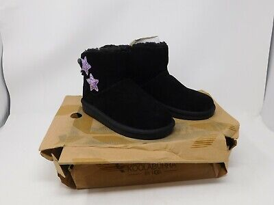 Koolaburra by UGG Kids Suede Mini Boots - Koola Star BLACK Children's 13 - EU 31