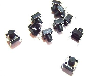 10pcs 6x6x8mm With 4 Mm Push Button Pcb Momentary Tactile Switch 4 Pin