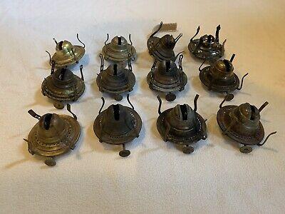 Antique Large Lot Of  #1 Oil Lamp Burners, Kerosene Lamp Burner Parts