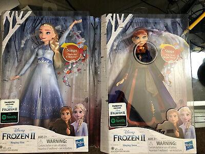 BRAND NEW Disney Frozen 2 Singing Elsa and Anna Princess Dolls Hasbro Bundle