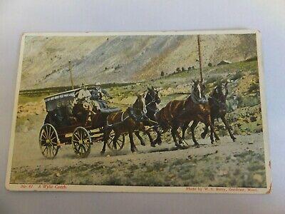 Yellowstone postcard - Berry Pub - No. 61 Wylie Coach