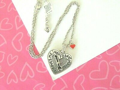 Brighton Heart Spinner Maybe Yes No Cupid Puzzle Silver Necklace New tags $58 Cupid Silver Necklace