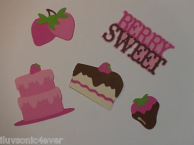 "5 piece Berry Sweet strawberry die cuts 1"" - 2 1/4"""