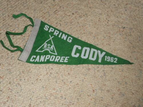 1962 BOY SCOUT CAMPOREE PENNANT CODY-NEW!!!
